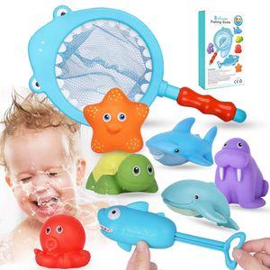 Badespielzeug Badewannenspielzeug Baby 8pcs Badewanne Spielzeug Angeln Spielzeug Badewanne Spielzeug Wasserspritztier