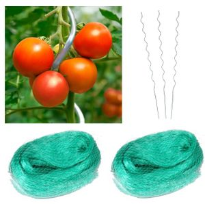 20x Tomatenspiralstab 1,8m + 2x Netz Tomaten Spiralstab Pflanzstab Stab Tomate