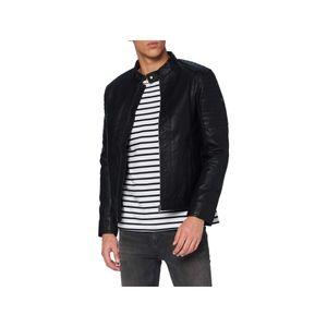 TOM TAILOR Herren Lederjacke Jacke faux leather biker jacket NOS Black L