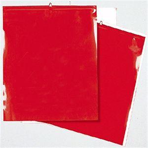Warnflaggen rot nach StVO für überhängende Lasten, 30x30 cm
