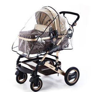 Daliya® Regenverdeck - Regenschutz - Haube für Bambimo Kinderwagen / Universal