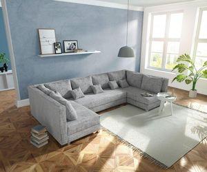 Couch Panama Hellgrau Wohnlandschaft modular