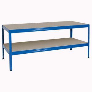 BRB Arbeitstisch/Packtisch, blau, HxBxT 900 x 1800 x 600 mm, Tragkraft pro Ebene 350 kg