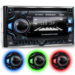 XM-2CDB620 2DIN Autoradio mit MicroSD, USB, CD und Bluetooth