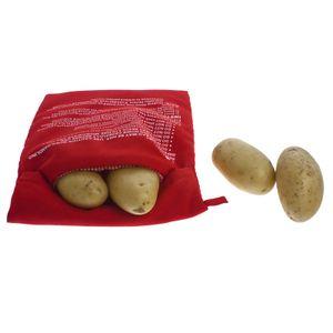 Universal Express Kochtasche für die Mikrowelle Kartoffelbeutel Kartoffel Maiskolben Tasche Bag Garer Potao Maker Dampfgarer Ofenkartoffel - Rot