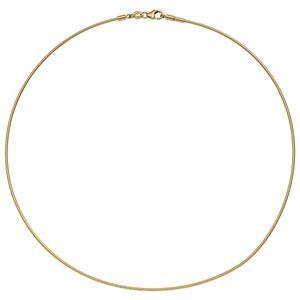 JOBO Halsreif 585 Gold Gelbgold 45 cm Goldkette Goldreif