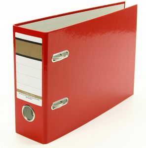 Ordner / A5 quer / 75mm breit / Farbe: rot