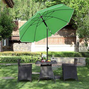 SONGMICS Ø 160 cm Sonnenschirm   UV Schutz UPF 50+ Sonnenschutz achteckiger Gartenschirm aus Polyester Grün GPU60GN