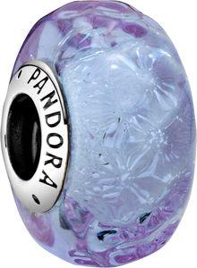 Pandora Colours Charm 798875C00 Wavy Lavender Silber 925 Lavendel Murano Glas
