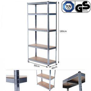 Grafner® Schwerlastregal 1,80m Werkstattregal auf 5 Ebenen 875kg Traglast /