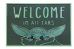 The Mandalorian Fußmatte Gummi Welcome I'm All Ears