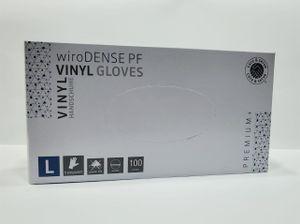 Wiros Vinyl Handschuhe L Puderfrei  100 Stk Transparent