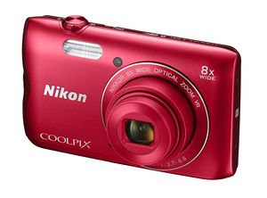 Nikon COOLPIX A300, 20,1 MP, 5152 x 3864 Pixel, 1/2.3 Zoll, CCD, 8x, Rot
