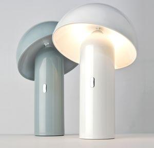 Sompex  LED Tischleuchte Svamp | Akkubetrieben | 3 verschiedene Farben | Dimmbar, Farbe:grau