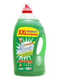 AppWasch® - Universal Vollwaschmittel Gel, 1-er Pack XXL(1 x 123 Waschladungen) 0,08 EUR/ Waschladung