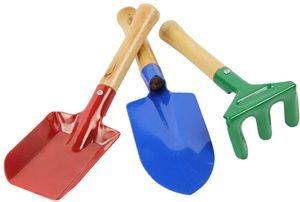 3 Stück Mini Metall Rechen Schaufel Kelle Set Gartengeräte Set Kinder Strand Sandkasten Spielzeug, Schaufeln & Spaten