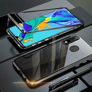 Hülle Magnet für Huawei P30 Lite Schutzhülle Cover Glas Handy Tasche Panzer Case