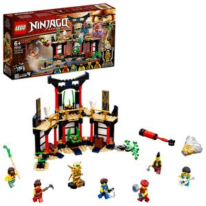 LEGO 71735 NINJAGO Turnier der Elemente Tempel Bauset mit Kampfarena und sammelbarer Figur des Goldenen Ninja Lloyd
