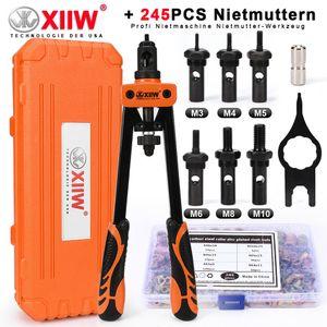 245X Profi Nietmutternzange Set Nietmaschine Gewinde Nuss Nieten M3-M10 Werkzeug