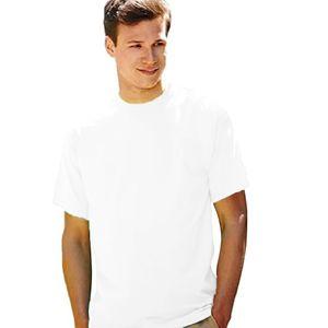 Fruit Of The Loom Herren Kurzarm T-Shirt BC330 (L) (Weiß)