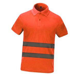 Reflektierende Sicherheit T Shirt Mit Hoher Sichtbarkeit Arbeitskleidung Blau / Orange / Rot / Grün Sicherheits-T-Shirt wie beschrieben Orange L