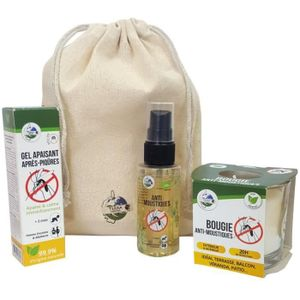 TERRA NOSTRA Anti-Mücken-Kit Nr. 1 - Kerze, Spray 50 ml & Beruhigendes Gel