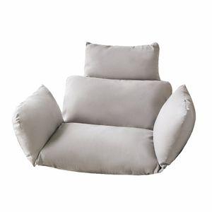 Abnehmbares und waschbares Kissen einfarbiges Kissen, Kissen, grau, dieses Produkt enthält keinen hängenden Stuhl