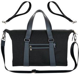 Wickeltasche Baby Kinderwagentasche Windeltasche Henkel und Schultergurt Matte schwarz