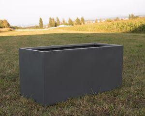 Pflanztrog Pflanzkübel anthrazit metallic 150x62x70cm