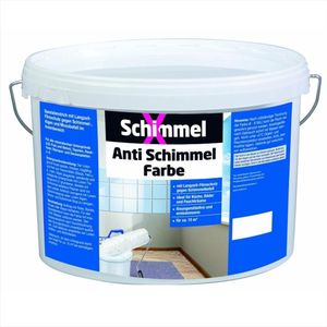 SchimmelX Anti Schimmel Farbe gegen Schimmelbefall Innen 5 Liter