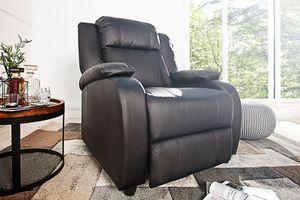 Moderner Relaxsessel HOLLYWOOD Kunstleder schwarz verstellbar Sessel Fernsehsessel mit Liegefunktion