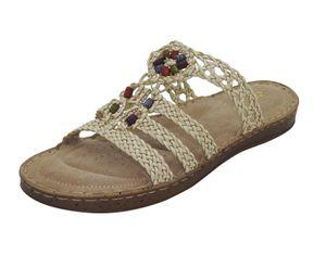 Damen Pantolette airsoft Sandale gepolstert Sandalette Sommer Schuhe Ledersohle, Schuhgröße:EUR 41