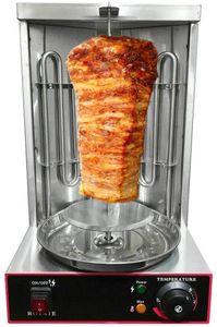 Dönergrill Elektro Gyrosmaschine Dönermaschine Hähnchengrill Drehgrill Hähnchengrill Gyrosgerät Gyros Grill Kebab BBQ 2 Brenner Grill Machine 3KW