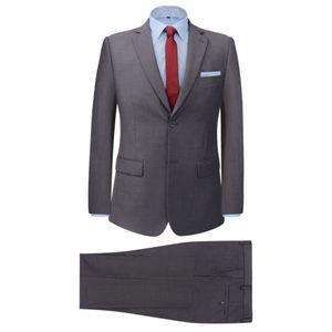 SIRUITON 2-tlg. Business-Anzug für Herren Grau Gr. 50