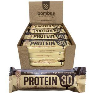 Bombus High Protein-Riegel mit 30% Protein Vanilla & Crispies 20x 50g (1kg)