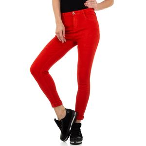 Ital-Design Damen Jeans Skinny Jeans Rot Gr.s/36