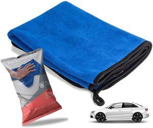 2x XXL Microfaser Auto Poliertuch Mikrofaserhandtuch Handtuch zur Politur & Trocknung Mikrofasertuch Auto Reinigung