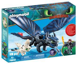 PLAYMOBIL Dragons 70037 Ohnezahn und Hicks mit Babydrachen