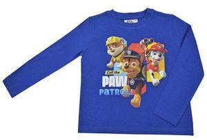 Paw Patrol - Jungen Langarmshirt Größe 122/128 blau