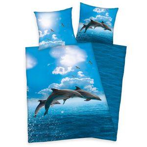 Delphin Bettwäsche Set Delfin 2tlg. 135x200 cm 100% Baumwolle