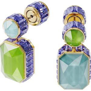 Swarovski Ohrhänger 5600519 Orbita, Asymmetrisch, Kristall im Octagon-Schliff, Weiss, Goldlegierung