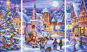 Noris Spiele Malen nach Zahlen - Weiße Weihnacht (Triptychon); 609260730