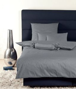 Janine Mako Brokat Damast Bettwäsche 2 teilig Bettbezug 155 x 200 cm Kopfkissenbezug 80 x 80 cm Rubin titan