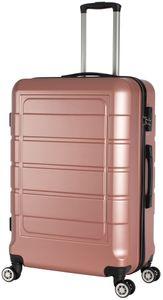 Hartschalenkoffer Trolley 4-Rollen Koffer Reisekoffer / XL 104 Liter / 201 - Farbe: rose-gold