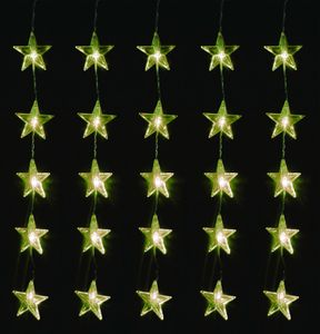LEX 80er LED Sternenvorhang für Innen und Außen, IP44, 1 m