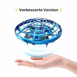 Verbesserte Version Infrarot Induktions UFO Mini Drohne Blau