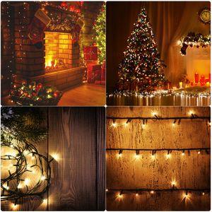 LED Lichterketten Deko für Weihnachten Warmweiß 20m Weihanchtsbeleuchtung Weihnachtsbaum