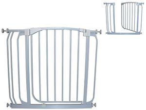 Türgitter Türschutzgitter Treppengitter Treppenschutzgitter 81,5 - 92,5cm grau von BabyLuca zum Klemmen ohne Bohren Autoclose Einhandbedienung