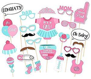 Es ist ein Mädchen Dekorationen Party Baby Shower Photo Booth Requisiten Kits auf Sticks Set von 25 Stück
