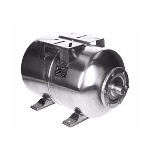 ECD Germany Edelstahl Ausdehnungsgefäß 24L mit EPDM Membran 1 Zoll Anschluss max. Druck 6 Bar Druckkessel für Hauswasserwerk Membrankessel Druckbehälter Druckkesel Kessel